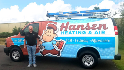 Owner Chad Setchell of Hansen Heating and Air upon the announcement that it has been acquired by Air Pros USA. Setchell will remain on and will lead Gulf Coast operations for Air Pros USA.