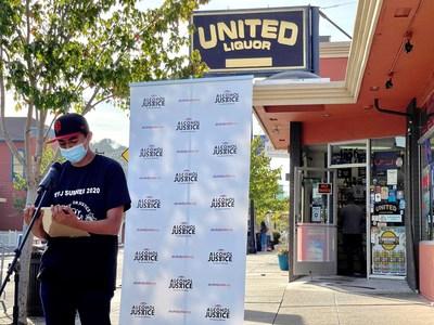 Jeffrey Angeles, miembro de la Coalición de Alcohol y Drogas de San Rafael y copresidente de Youth For Justice. (PRNewsfoto/Alcohol Justice)