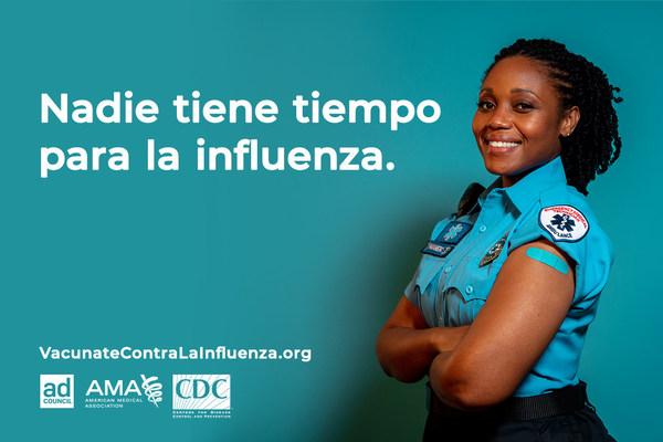 Los CDC, la AMA y el Ad Council alientan a vacunarse contra la influenza para reducir las hospitalizaciones por influenza en medio de las preocupaciones por el COVID-19